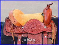 10 Tan Children Western Mini Pony Saddle -Leather Miniature Horse Saddle
