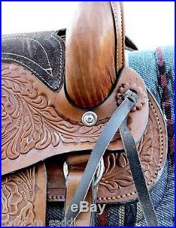10 Western Brown Kids Pony Saddle Leather Miniature Saddle