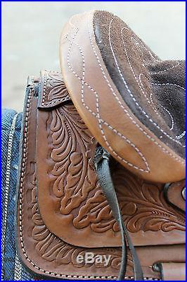 10 Youth Pony Saddle Childs Pony Saddle-FREE CINCH