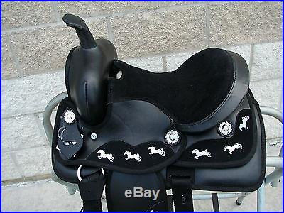 12 13 Running pony tape Western Trail Kid Youth SYNTHETIC SADDLE Headstall BP