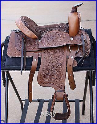 12 Brown Pony Pleasure Saddle Youth/Kids Trail Saddle