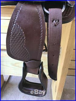 12 Brown Tooled Leather Western Youth Saddle Mini Miniature Horse Pony 3249