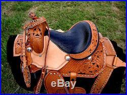 12 Horse Western Barrel Show Pleasure LEATHER SADDLE Bridle 5036