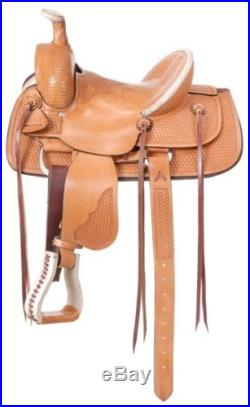 12 Inch Liberty Youth Western Roper Saddle Light Oil Leather
