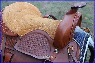 12 LIGHT OIL Kids Pony Western New Saddle Youth Pleasure Riding Saddle