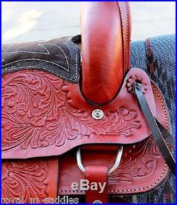 12 Red Leaf And Acorn Children Pony Saddle Mini Horse Shetland Pony Saddle