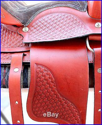 12 Youth Pony Saddle Western Tooled Saddle Children Pony Saddle Pony Tack