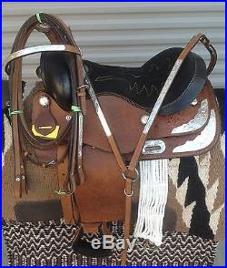13 NEW SHOW TAN ALL LEATHER WESTERN SADDLE PKG MUST SEE WELL MADE