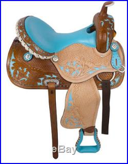 14 15 16 Western Horse Barrel Racer Leather Pleasure Trail Show Saddle