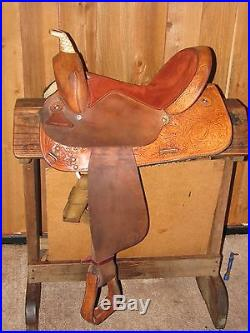 14 1/2 Used Circle Y Barrel Saddle (Made in Yoakum, Texas USA)