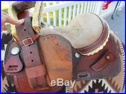 14'' BUFFALO SADDLERY western barrel saddle SQHB