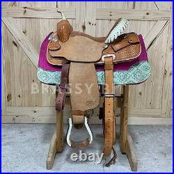 14 Billy Cook Half Breed Barrel Saddle FREE SHIPPING
