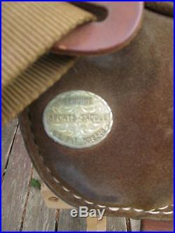 14 Original Genuine Bob Marshall Treeless Saddle Suede Roughout Wall Stirrups