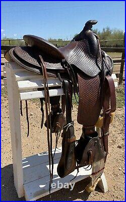 14 Porter Ranch Saddle with Tapaderos Vintage & Lookin' GOOD Collect or Ride