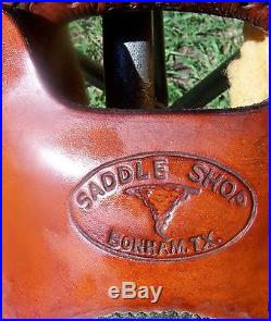 15 15.5 Twister Western Roping Saddle Full QH Bars also good for Pleasure Trail