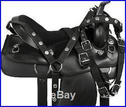 15 16 17 18 WESTERN PLEASURE TRAIL DURA LEATHER BARREL RACING HORSE SADDLE TACK