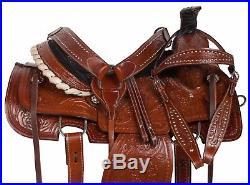 15 16 17 Western Ranch Roping Roper Cowboy Horse Leather Saddle Tack Set