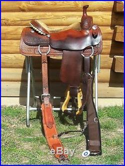 15.5 16 Dale Martin Cutting Saddle Greenville Tx Western Pleasure Trail Cutter