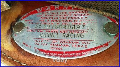 15.5 Bob Marshall Circle Y Barrel Racing Saddle