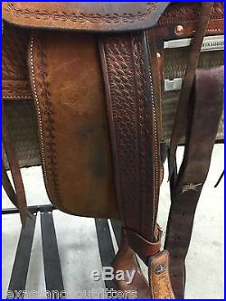 15.5 Brian Peterson Martin Saddlery Wade Ranch Saddle @ Texas Ranch Outfitters