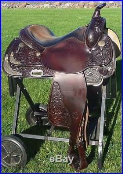 15.5 Circle Y Equitation Silver Show Saddle