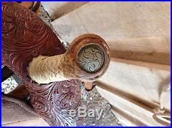 15.5 Circle Y MARTHA JOSEY UltimateTooled Barrel Racing Western Horse Saddle