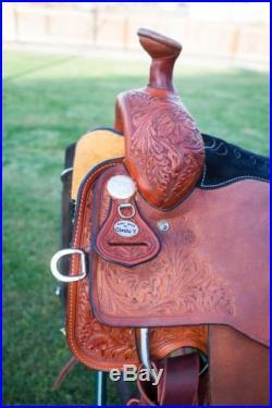 15.5 Circle Y Quality Roping Pleasure Trail Western Saddle