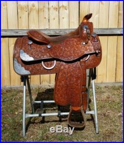 15.5 Phil Harris silver show saddle