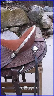 15.5 San Marcos Rancher Roper A fork Western Saddle Horse Tack