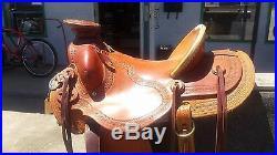 15 Allison Saddlery Buckaroo Wade Saddle Custom Made with Tapaderos
