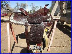 15 Billy Cook Western Show Saddle-SQHB