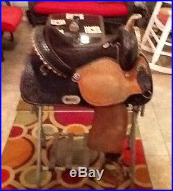15 Billy Cook flex tree barrel racing saddle