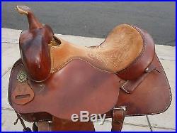 15 Circle Y Barrel Racing Horse Saddle Model 225 Think Vintage Need Tlc