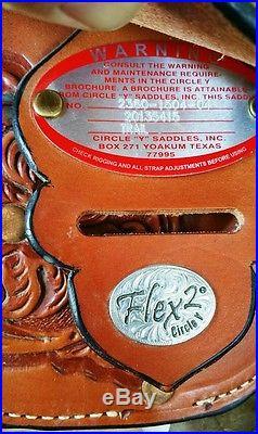 15 Circle Y Flex 2 Trail saddle $400 Off