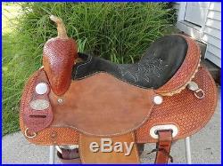 15 Custom Double CC Saddlery Western Barrel Racing / Barrel Horse Saddle