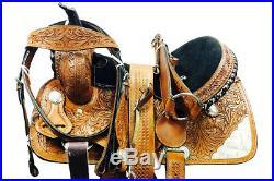 15 Horse Barrel Racing Saddle Trail Pleasure leather Tack Great American U-5-M3