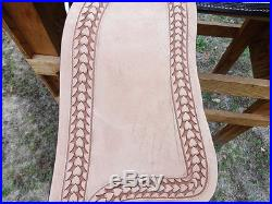 15 TURQUOISE WESTERN BARREL RACER LEATHER PLEASURE TRAIL SILVER SHOW SADDLE