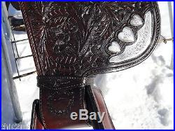 15 Vintage BILLY ROYAL Silver Heart Western Show Horse Saddle STUNNING