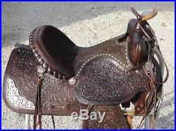 15 Vintage SIMCO Western Horse Saddle Beautiful Tooling & Buckstitch #5548