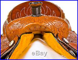 15 WESTERN ROPING ROPER COWBOY RANCH HORSE PLEASURE TRAIL LEATHER SADDLE TACK