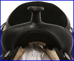 16 17 18 Comfy Black Western Pleasure Horse Saddle Tack Set