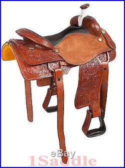 16 17 18 LEATHER RANCH WORK ROPING ROPER COWBOY WESTERN TRAIL HORSE SADDLE TACK