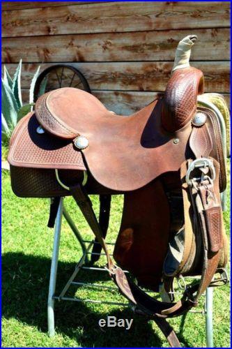 16 1/4 Equi-Sport Custom Cutting Saddle Pleasure Trail Cowhorse Quality Leather