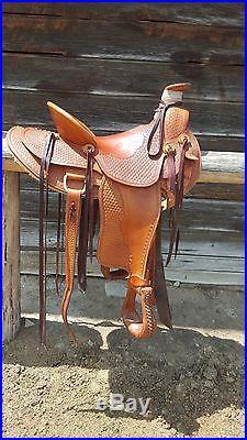 16.5 Buster Hougen Natural Custom Wade Ranch Saddle