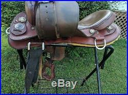16.5 National Bridle Shop Tennessean Gaited Endurance Trail Saddle Model 7114