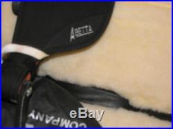 16 Abetta BLACK Super Cushion BRUSHPOPPER Endurance Trail Saddle Flex Tree QH
