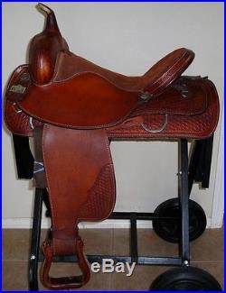 16 Big Horn Western Leather Barrel Racing Saddle # 1610