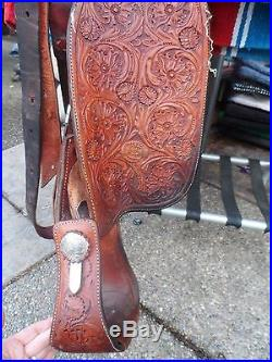 16 Billy Cook Western SHOW Saddle Beautiful Silver Details
