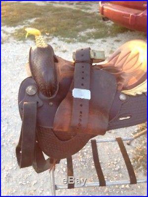 16 Blue Ridge Barrel Racing Horse Saddle Nice Saddle