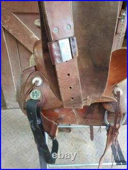 16 Bona Allen Western Saddle